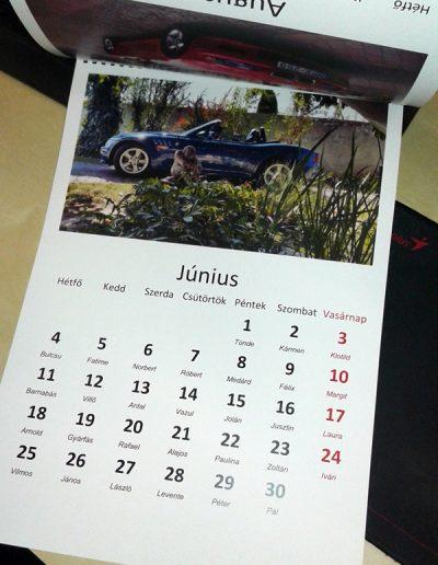 egyedi naptár nyomtatás